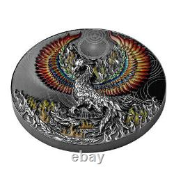 2021 Niue $5 Phoenix Black Proof 2 oz. 999 Silver Coin 500 Made