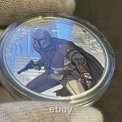 2021 Niue Mandalorian 1 oz Colored Silver Proof Coin 1st In Series IN STOCK