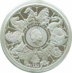 2021 Royal Mint Queens Beasts Completer £2 Two Pound Silver Proof Coin Box Coa