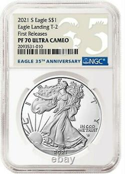 2021 S Silver Eagle Type 2 Landing Ngc Pf70 Fr First Releases T2 San Francisco +