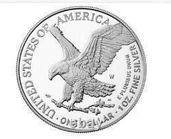 2021 W American Eagle 1 oz Silver Proof New Reverse PRESALE TYPE 2