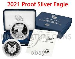 2021-W Proof American Silver Eagle GEM Proof OGP (21EA) Live