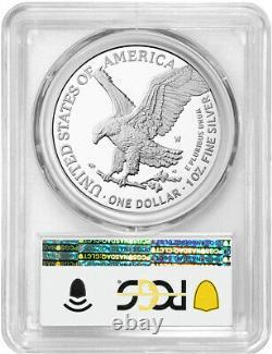 2021-W Type 2 American Silver Eagle Advanced Release PCGS PR70DCAM
