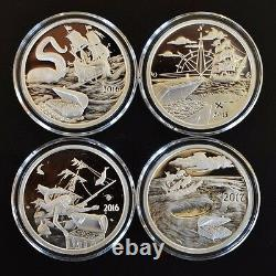 4 oz. PROOF. 999 Silver Rounds CoinsSilverbug Island, Kraken, Mermaid, Whirlpool