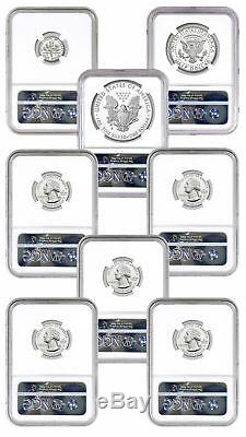 8-Coin 2018-S Limited Silver Proof Set NGC PF70 UC ER Silver Foil SKU55460