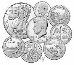 8 Coin Set 2019 S US Limited Edition Silver Proof Coins Set OGP SKU59509
