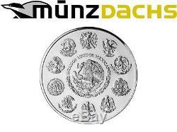 Aztec Calendar 1 Kilo kg. 999 fine silver Proof Mexico 2014 mintage only 500