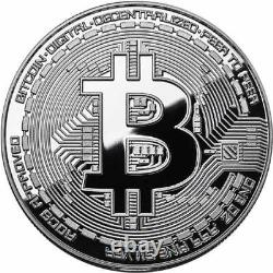 Bitcoin Proof 1 oz. 999 fine Solid silver commemorative AOCS limited 2016 with COA