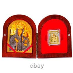 Icon of Zarvanysia Mother of God Proof Silver Coin 1$ Niue 2014