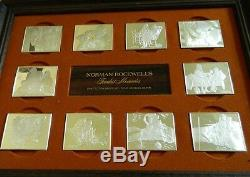 NORMAN ROCKWELL'S FONDEST MEMORIES 10 INGOT SILVER PROOFS BEAUTY WithOVER 30 OZS
