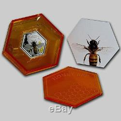 New Zealand -2016- 1OZ Silver Proof Coin- Honey Bee Coin! Scarce