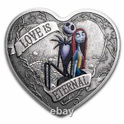 Niue -2021- 1 OZ Silver Proof- Nightmare Before Christmas Love is Eternal