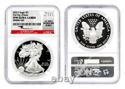 Presale 2020 S Proof Silver Eagle Ngc Pf70 First Day Of Issue Mercanti Engraver