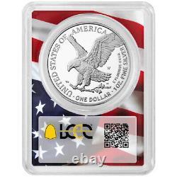 Presale 2021-W Proof $1 Type 2 American Silver Eagle PCGS FS PR70DCAM Flag Fra
