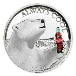 Proof 2019 1 Oz 999 Silver $2 Figi Coca-cola Polar Bear Hr $148.88
