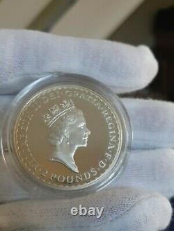 RARE 1997 £2 Britannia 1oz Silver Proof Coin COA