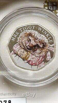 Royal Mint 2016 Peter Rabbit Beatrix Potter 50p Silver Proof Coins Set & 5 COAs
