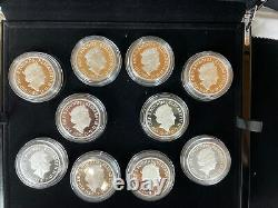 The Queens Beasts 10 Coin 2oz Silver Proof Royal Mint Two Ounze Ten Coin Set