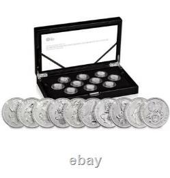 The Queens Beasts 2021 UK Quarter-Ounce Silver Proof Ten-Coin Set