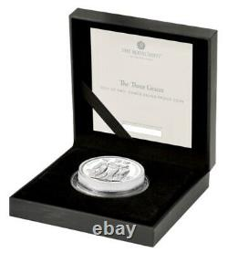 Three Graces 2020 Silver Proof £5 U. K. Coin (2oz.) Great Engravers Series
