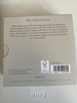 Three Graces 2020 UK Two-Ounce Silver Proof Coin